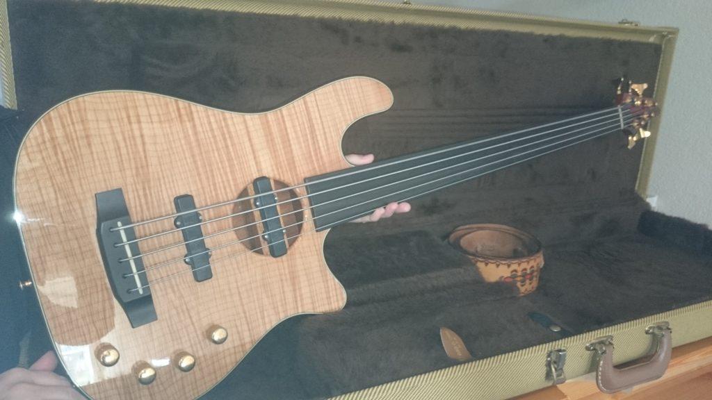 5 Carvin 5 string fretless Bass Gesamtansicht