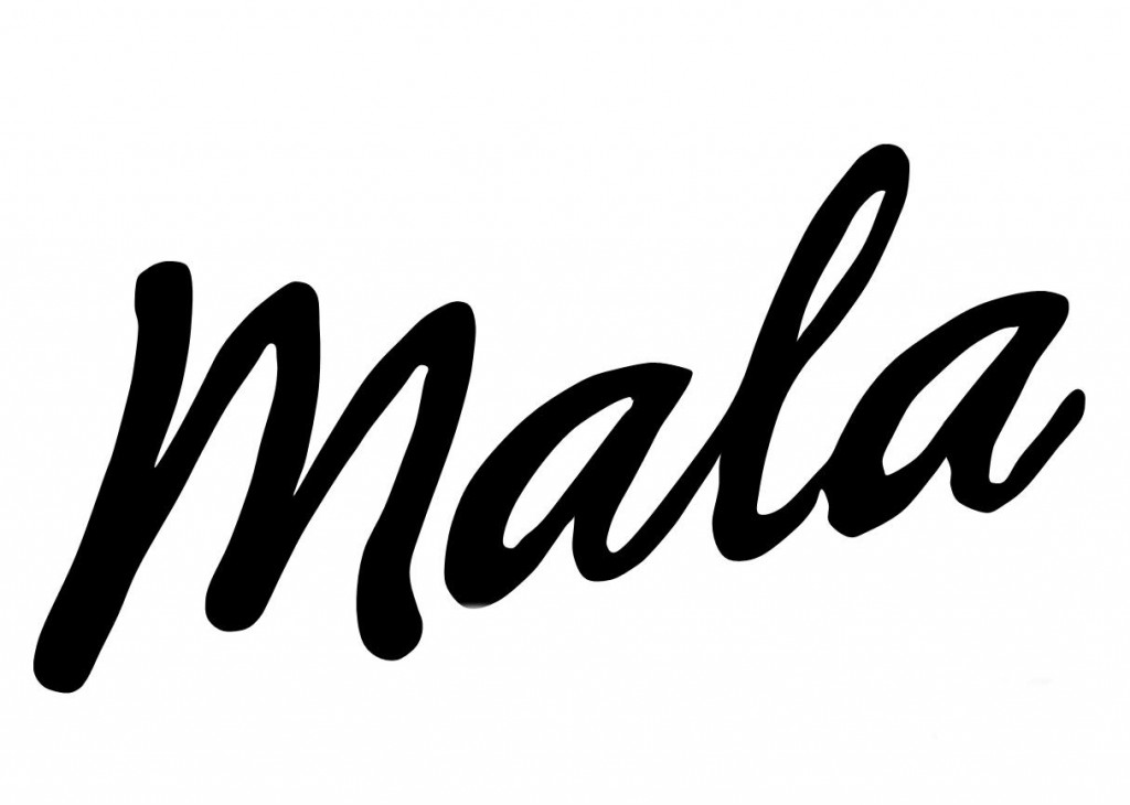 Logo Mala - schwarz auf weiss