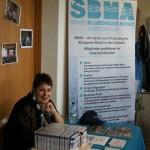 Am Stand: SBMA-Vorstandsmitglied Bea Caruso