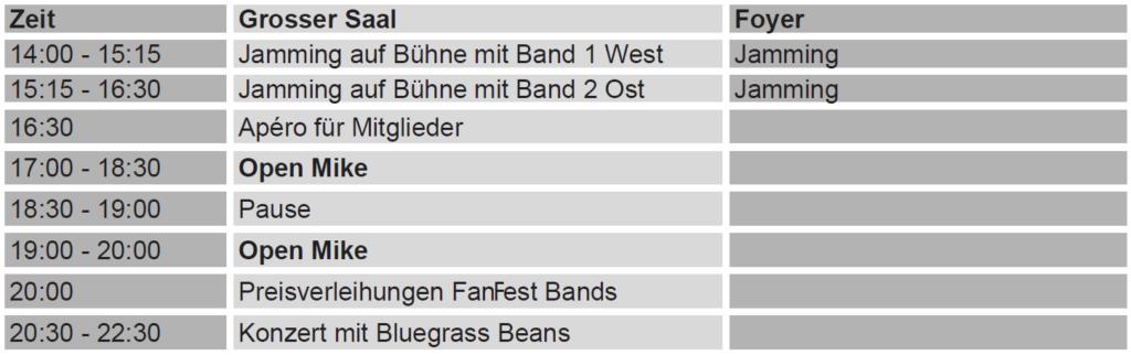 FanFest Zeitplan